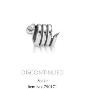 Pandora Coiled Snake Charm (Retired)